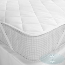 Soft Luxury quitted polyester-cotton mattress protector